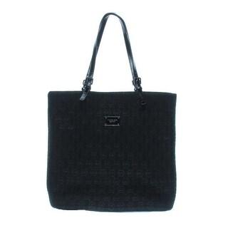 Michael Kors Womens Tote Handbag Embossed Contrast Trim - Mandarin - Large