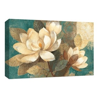"""PTM Images 9-153874  PTM Canvas Collection 8"""" x 10"""" - """"Turquoise Magnolias"""" Giclee Flowers Art Print on Canvas"""