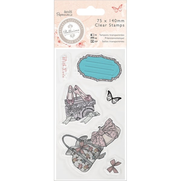 Papermania Bellisima Mini Clear Stamps 75x140mm-Shoes & Bags