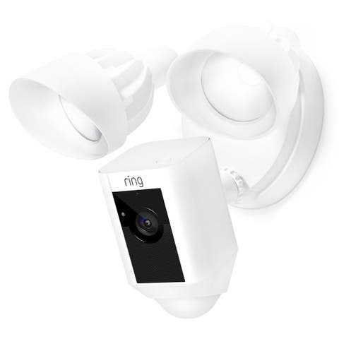 Ring 8SF1P7-WEN0 Motion-Activated HD Security Camera With Floodlight - White