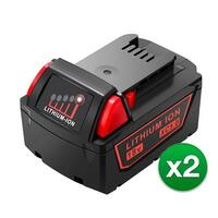 Battery for Milwaukee 48111850 (2-Pack) Replacement Battery