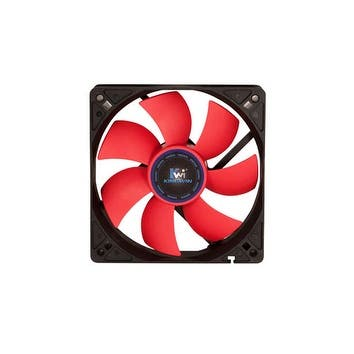 Kingwin Black and Red 120mm Long Life Bearing PC Computer Case Fan (CF-012LBR)