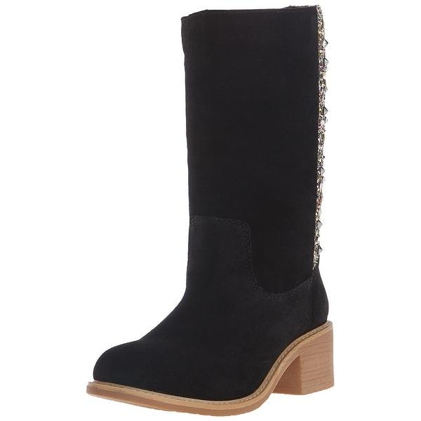Mojo Moxy Womens Palacio Leather Closed Toe Mid-Calf Fashion Boots