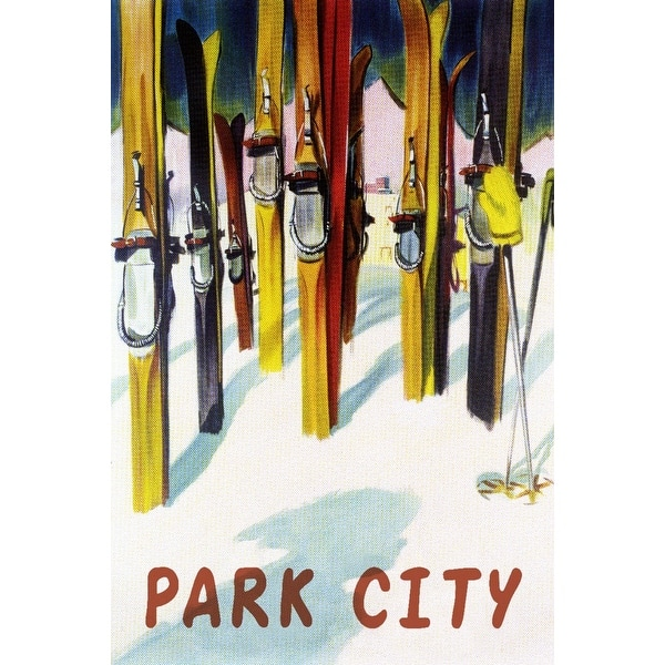 Shop Park City Utah Colorful Skis Lantern Press Artwork Art Print Multiple Sizes Available 9 X 12 Art Print Free Shipping On Orders Over 45 Overstock 27919006