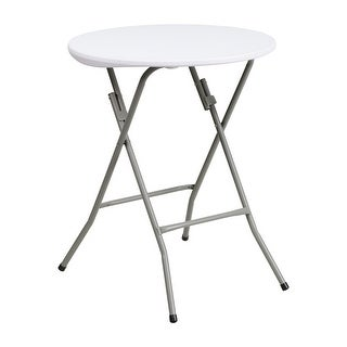 "Offex 24"" Round Granite White Plastic Folding Table [OF-DAD-YCZ-80R-1-SM-GW-GG]"