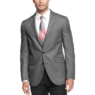 Kenneth Cole Reaction Slim Fit Charcoal Neat Sportcoat Blazer 42 Short 42S