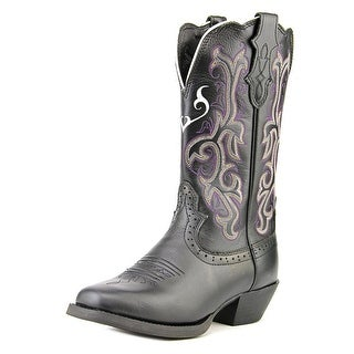 Justin Boots L2554 Women Square Toe Leather Black Western Boot