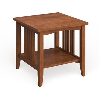 Link to Porch & Den Clifton Mission Medium Oak Finish End Table Similar Items in Living Room Furniture