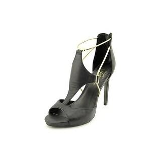 Fergie Raegan Peep-Toe Leather Heels