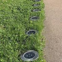 Sunnydaze Outdoor LED Solar-Powered Garden Pathway Ground Lights - Set of 6