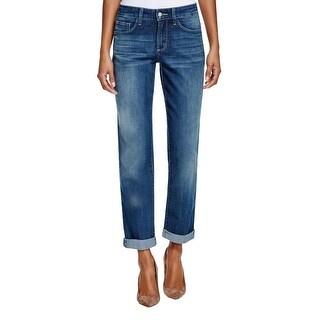 NYDJ Womens Sylvia Boyfriend Jeans Slimming Cuffed