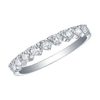 Prism Jewel 0 66Ct Round G H SI1 Natural Diamond Engagement Ring