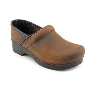 Dansko Pro Antique W Round Toe Leather Clogs