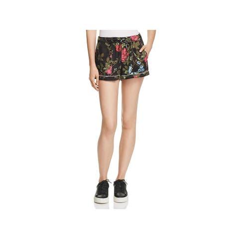 Pam & Gela Womens Casual Shorts Floral Print High Rise