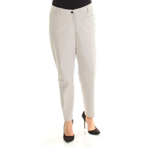 ANNE KLEIN Womens Gray Pants Size: 2