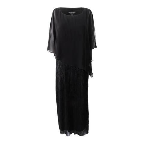 Connected Women's Capelet Metallic Gown