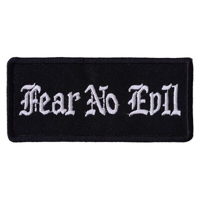 FEAR NO EVIL Fun Embroidered Iron On Motorcycle Biker Jacket Vest Patch P101
