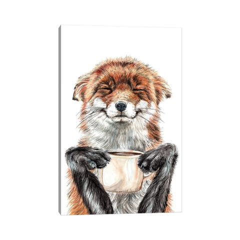 "iCanvas ""Morning Fox"" by Holly Simental Canvas Print"
