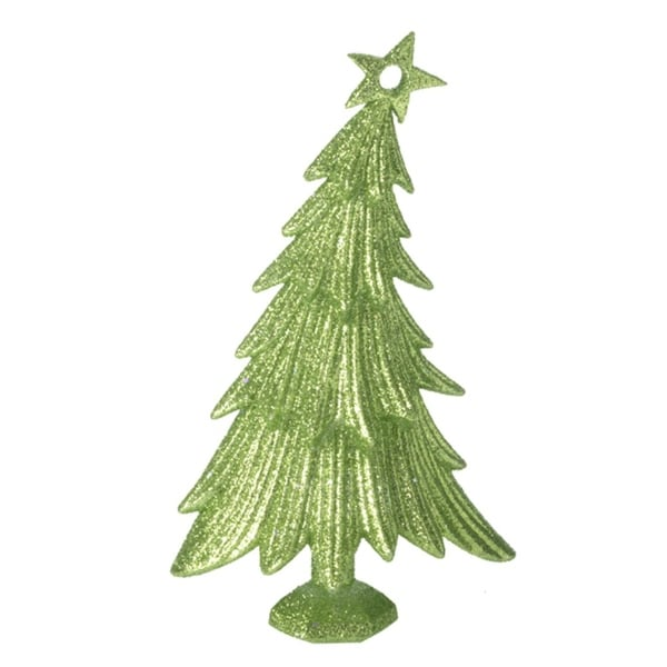 "6"" Christmas Brites Glitter Drenched Green Tree Christmas Ornament"