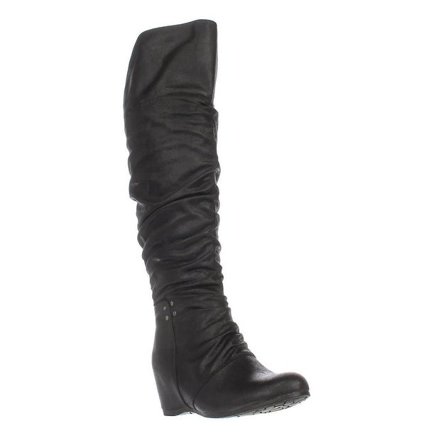 BareTraps Valry Over-The-Knee Slouch Boots, Black