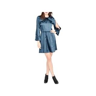 Rachel Rachel Roy Womens Julia Party Dress Split Sleeves Above Knee