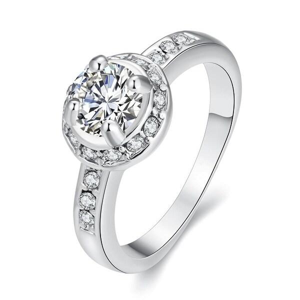 Micro-Insert White Gold Ring