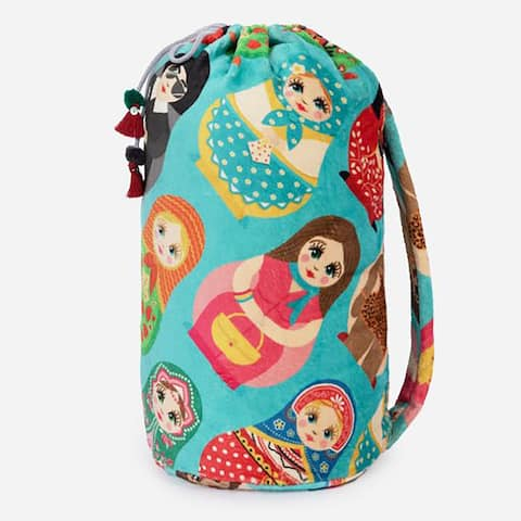 Johnny Was Blanket Dolls Doll Reversible Large Throw Blankie Bag New