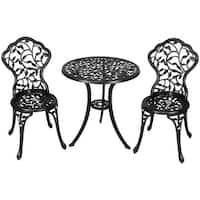 Sunnydaze 3 Piece Patio Bistro Table Chair Set Furniture - Options Available