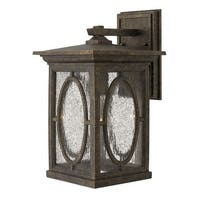 """Hinkley Lighting 1494 13.75"""" Height 1 Light Lantern Outdoor Wall Sconce from the Randolph Collection"""