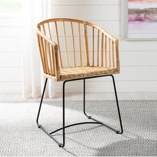 Link to Safavieh Dining Siena Rattan Natural Dining Chair Similar Items in Accent Chairs