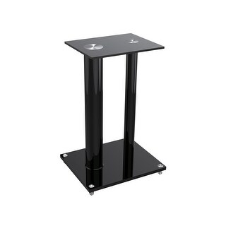 Monoprice Glass Floor Speaker Stands (pair), Black