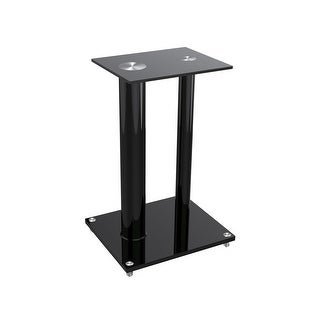 MonopriceGlass Floor Speaker Stands (pair), Black