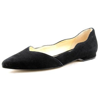 Cole Haan Windsor Skimmer Women Pointed Toe Suede Black Flats