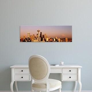 Easy Art Prints Panoramic Images's 'Skyline, Seattle, Washington State, USA' Premium Canvas Art