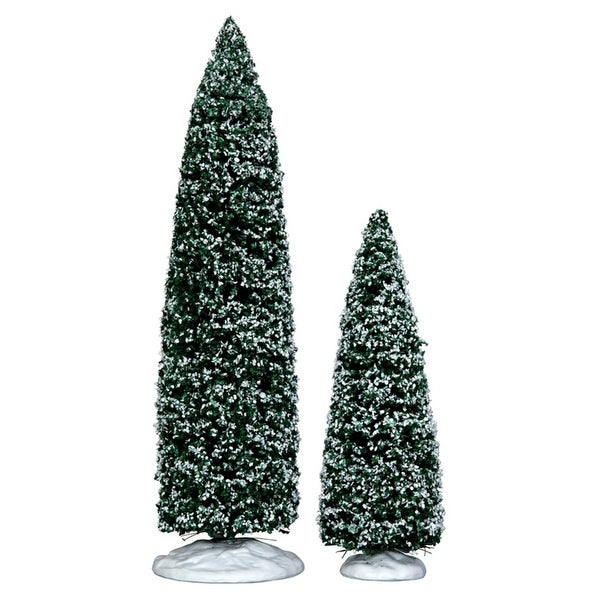 Lemax Christmas Village Snowy Juniper Tree 2-Piece Accessory Set #34664