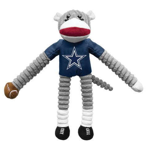 Little Earth NFL Team Sock Monkey Pet Toy, Dallas Cowboys - Multi-Color
