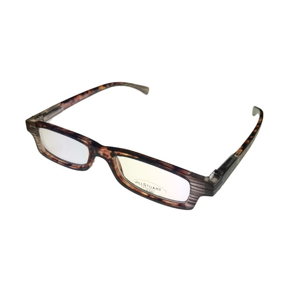 Jill Stuart Reading Womens Glasses JSR1 Demi Amber Plastic Rectangle 2.0 Power - Medium