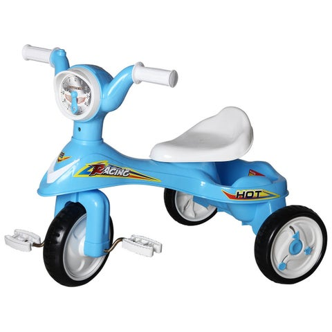 Costway Toddlers Glide Tricycle Trike Bike Kids Ride On Toy w/ Music Blue Indoor/Outdoor