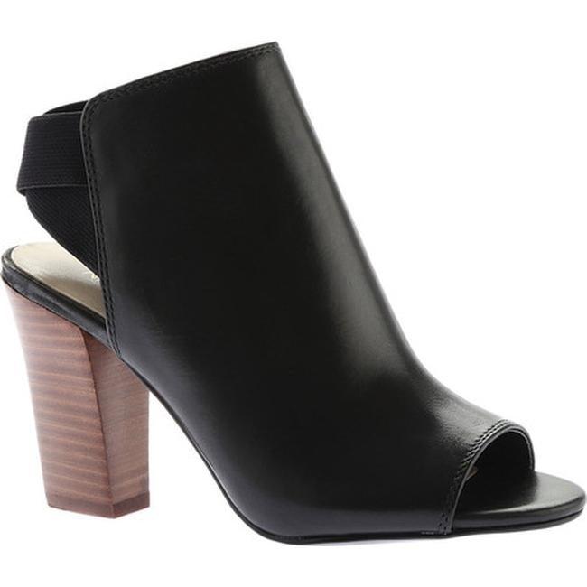 27540e6ce08f Nine West Women  x27 s Zofee Block Heel Open Toe Shootie Black Leather
