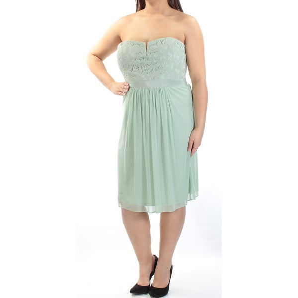 Shop ADRIANNA PAPELL Womens Green Lace Sleeveless