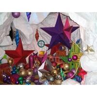 Barrango 102492 - 24 Inch Gold Glitter Star Oversized Ornament