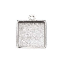 Nunn Design Bright Silver Plated Pewter Collage Bezel Square 1/2 Inch