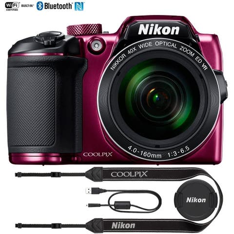 Nikon COOLPIX B500 16MP 40x Optical Zoom Digital Camera - (Plum) - N/A
