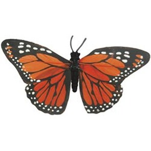 "4.5"" Orange Monarch - Butterfly W/Wire 1/Pkg"