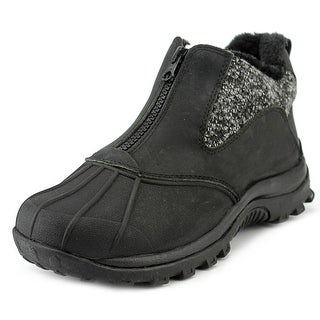 Propet Blizzard Ankle Zip Women Round Toe Leather Black Boot