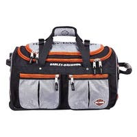 Harley-Davidson 29 inch 15-Pocket Wheeling Duffel Bag, Silver/Black 99529