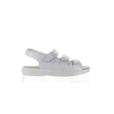 Propet Womens Breeze Walker White Sandals Size 8.5