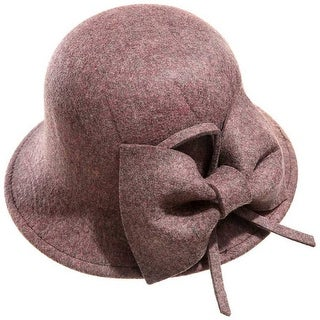 Mad Style Brown Bow Cloche Hat