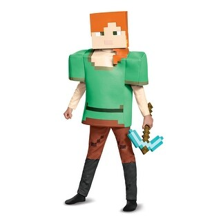 Girls Minecraft Alex Deluxe Halloween Costume