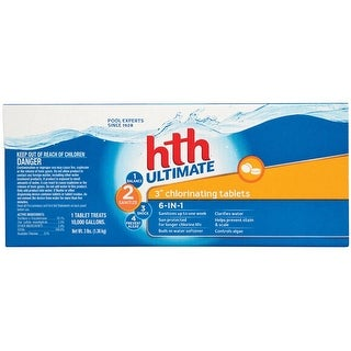 HTH 42017 Ultimate Chlorinating Tablets, 3 Lbs